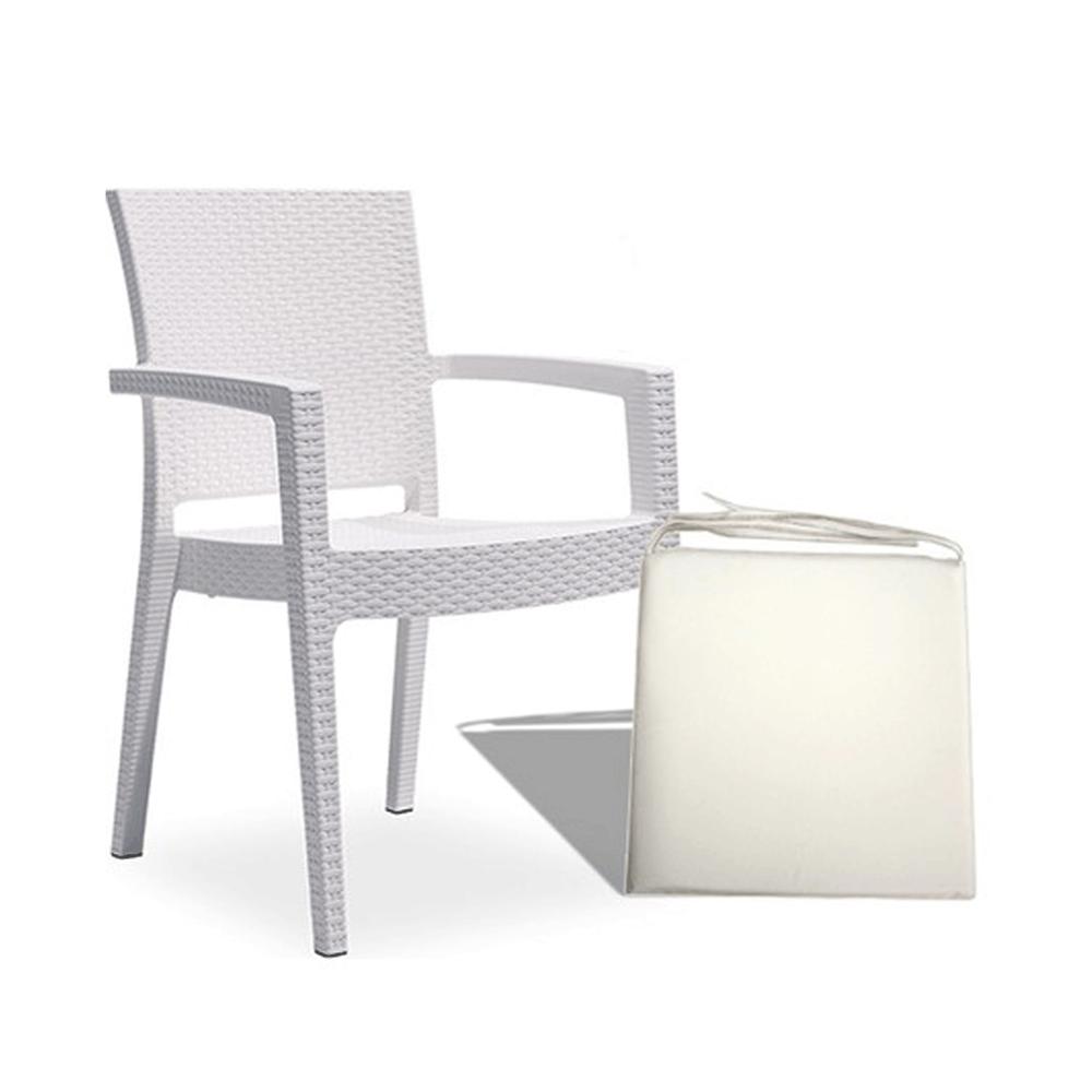 Bahçe Sandalye Paris Rattan Beyaz