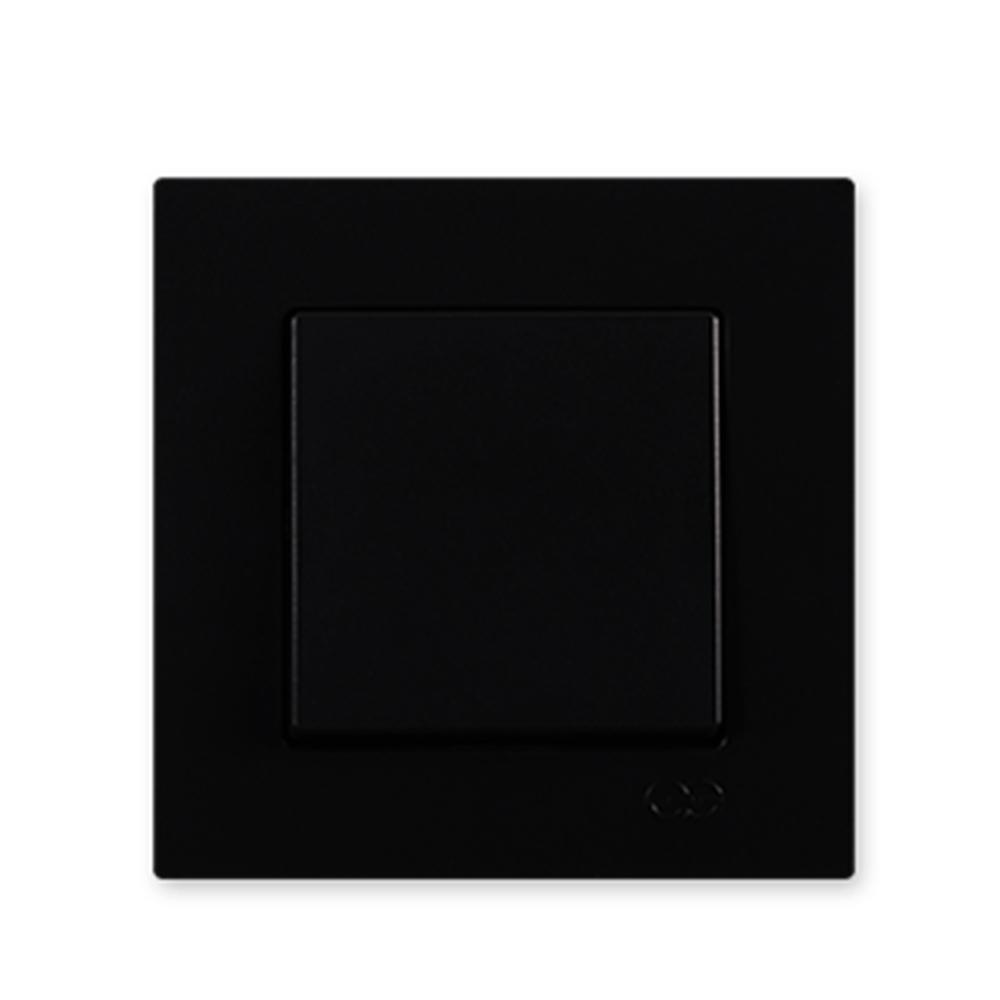 Günsan Elektrik Tekli Anahtar Eqona Serisi Siyah